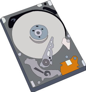 Computer hard drive clipart.