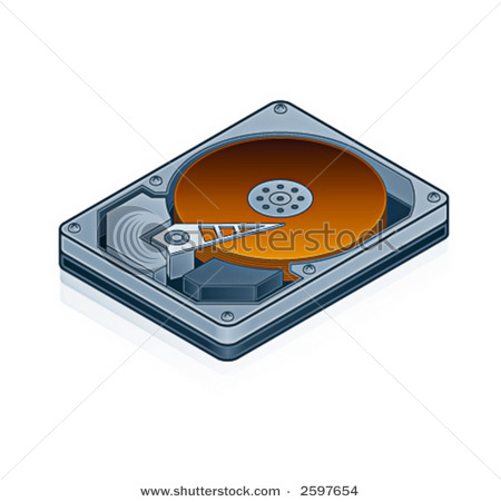Computer hard drive clipart for kids.