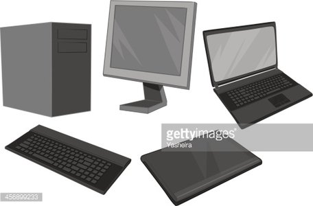 Computer equipment Collection Clipart Image.