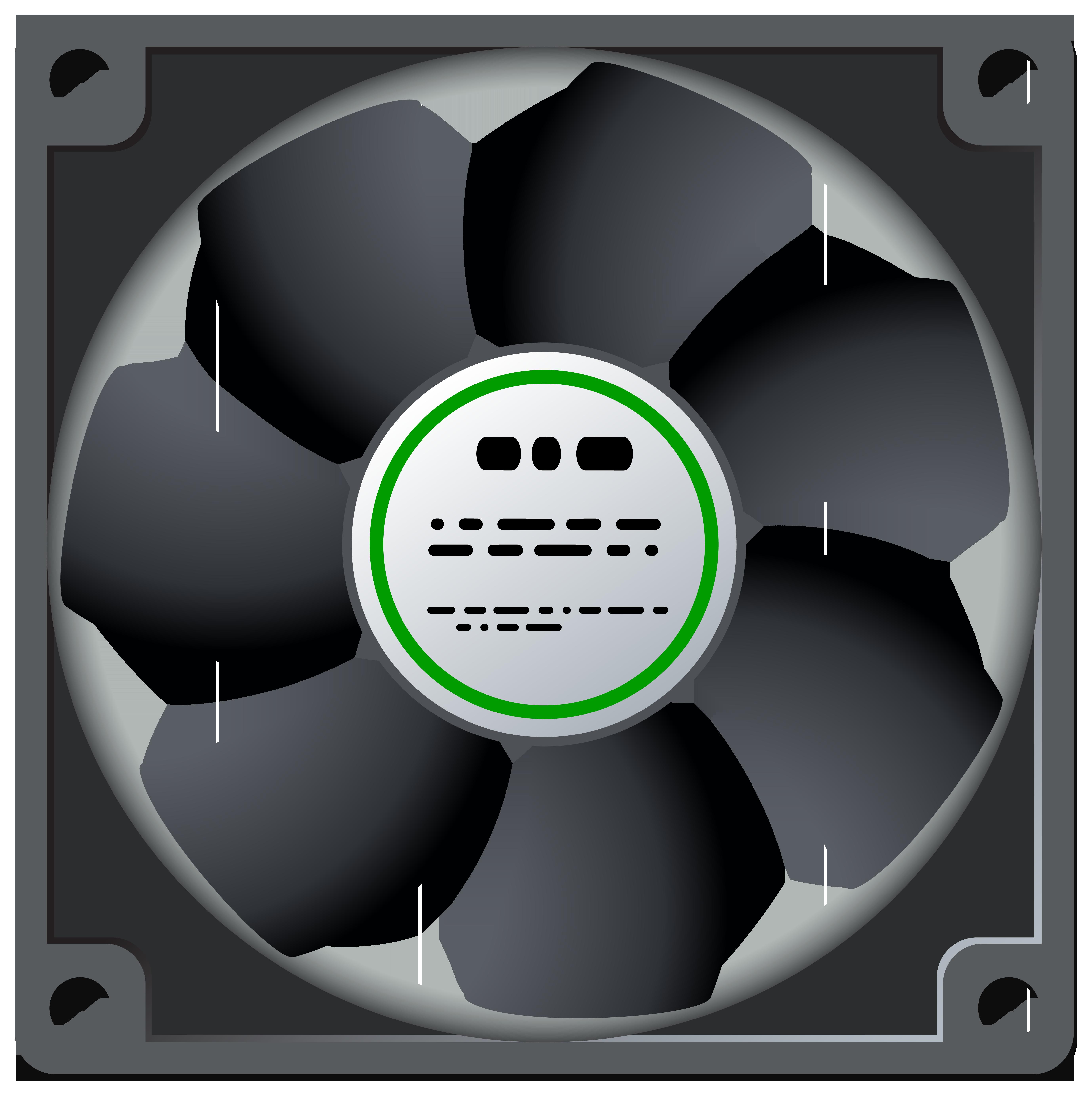 Standard Computer Fan PNG Clipart.