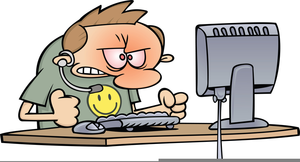 Free Clipart Frustrated Person At Computer.