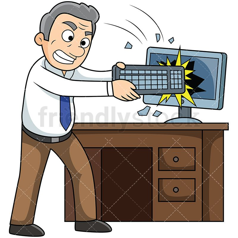 Computer Frustration Clipart 18.