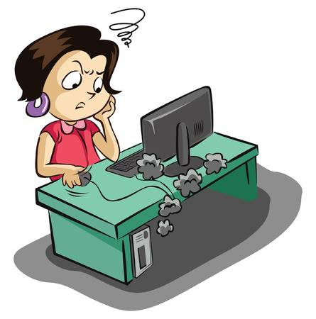 Computer Frustration Clipart 14.