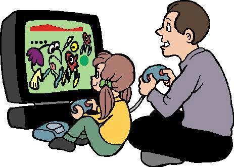 Computer games clipart.