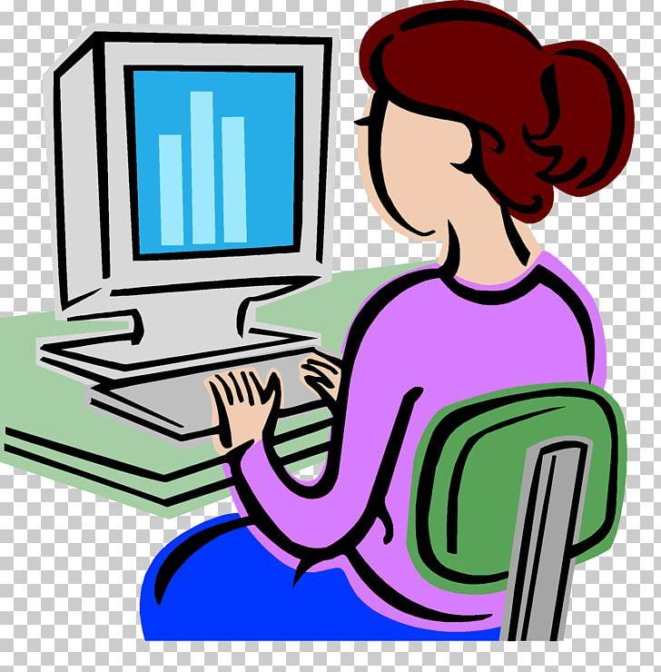 Computer Woman PNG, Clipart, Area, Artwork, Communication, Computer.
