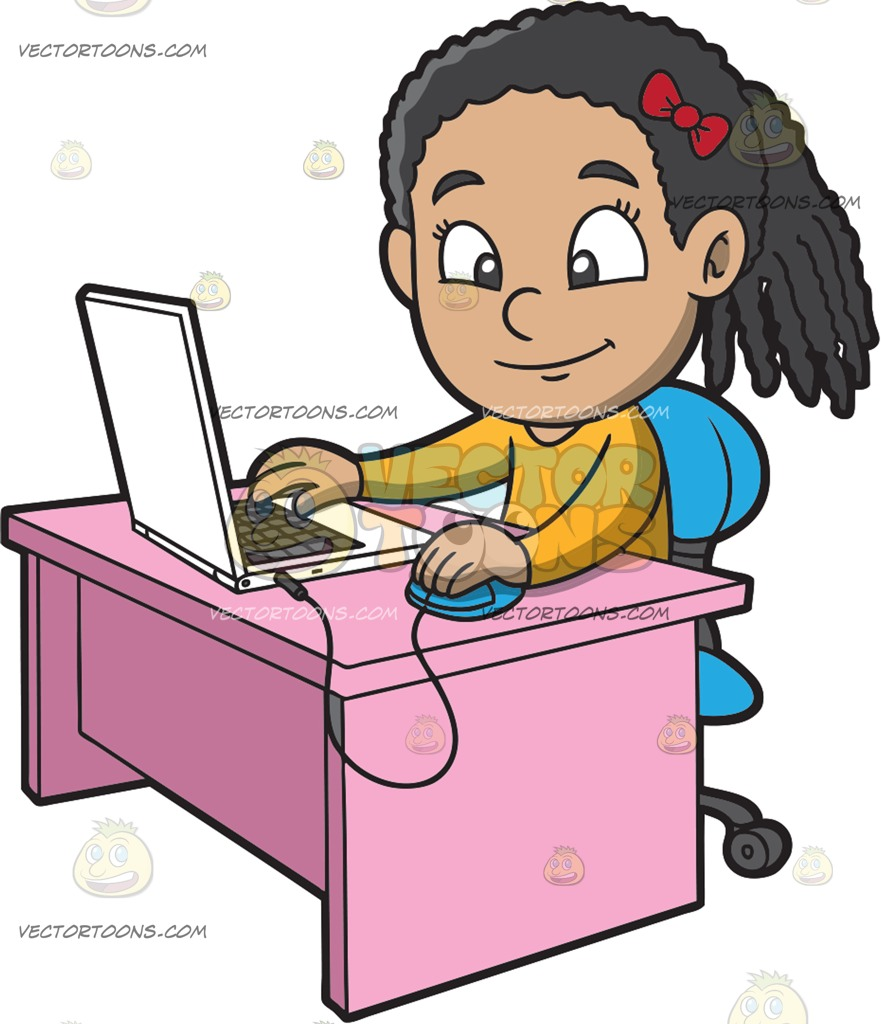 Computer Game Girl Clipart & Free Clip Art Images #27905.