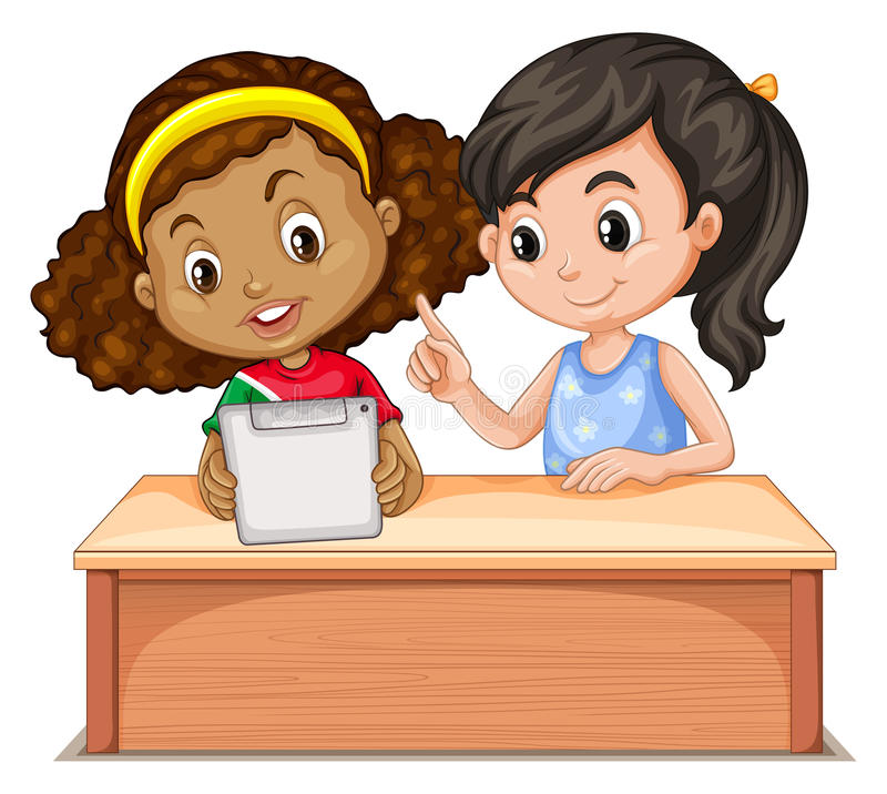 Computer Girls Stock Illustrations.