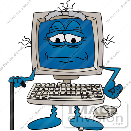 computer clipart cartoon #13