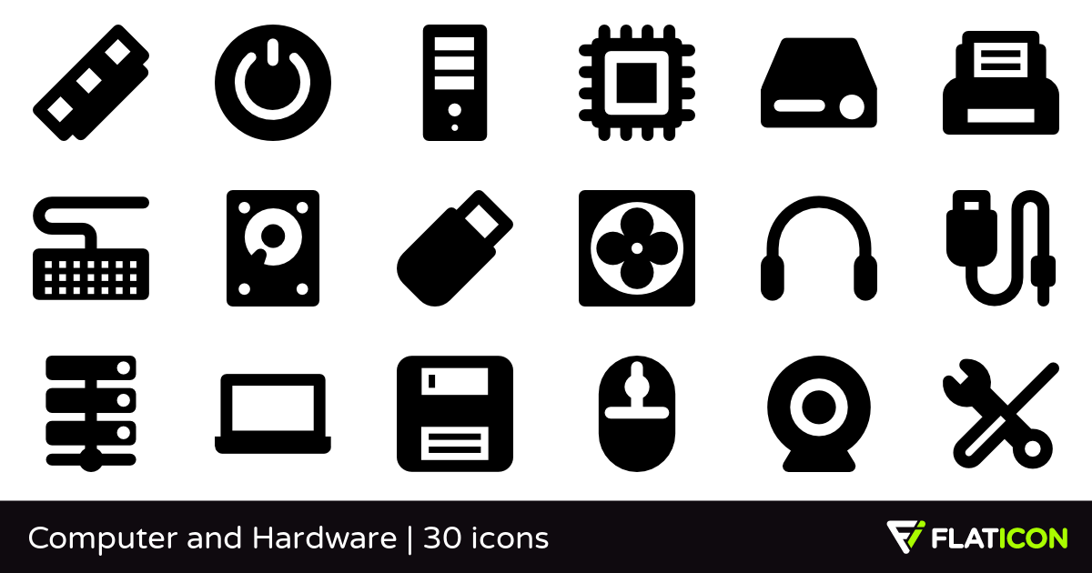 Computer and Hardware 30 free icons (SVG, EPS, PSD, PNG files).
