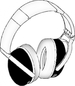computer headphone clipart black and white 20 free