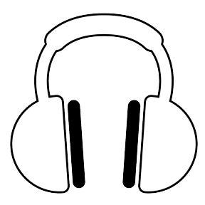 Earbuds Clipart Black And White.