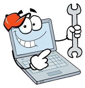 Computer technician clip art.
