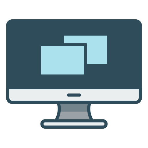 Display, desktop, pc, computer Icon Free of Office.