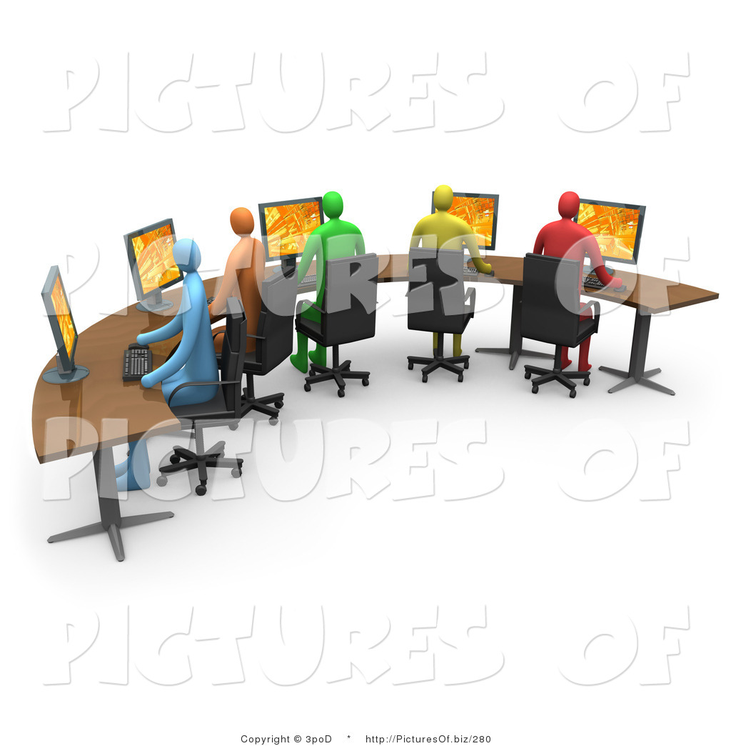 Computer in office clipart.