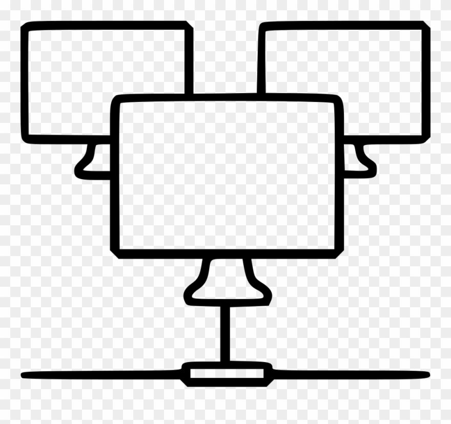 Jpg Black And White Monitors Structure Level Svg Png.