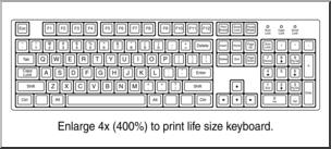 Clip Art: Computer Keyboard B&W I abcteach.com.