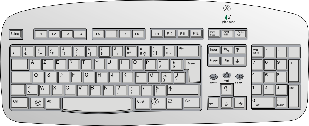 Computer keyboard clipart #12