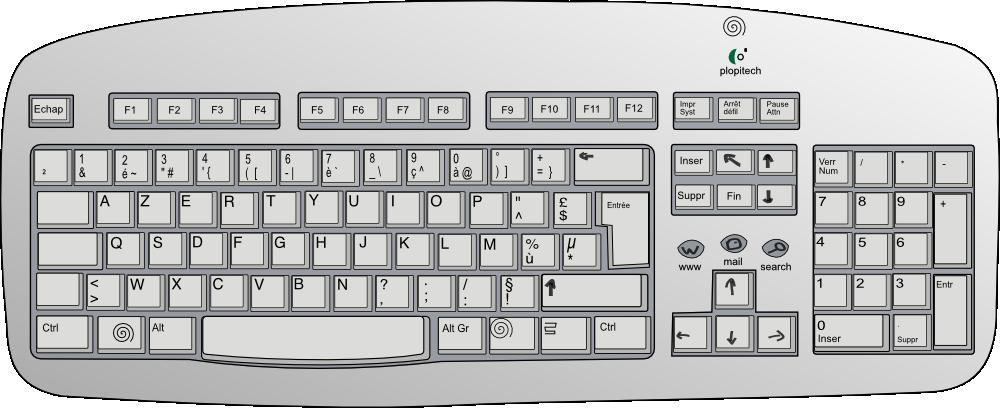 Computer Keyboard Keys Clip Art.