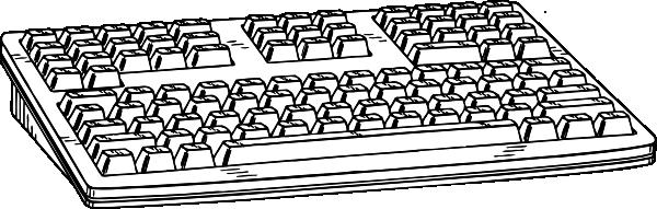 Computer Keyboard clip art Free Vector / 4Vector.