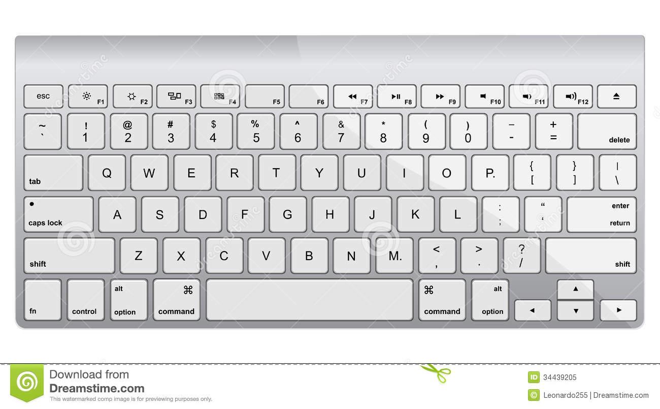Mac computer keyboard clipart.