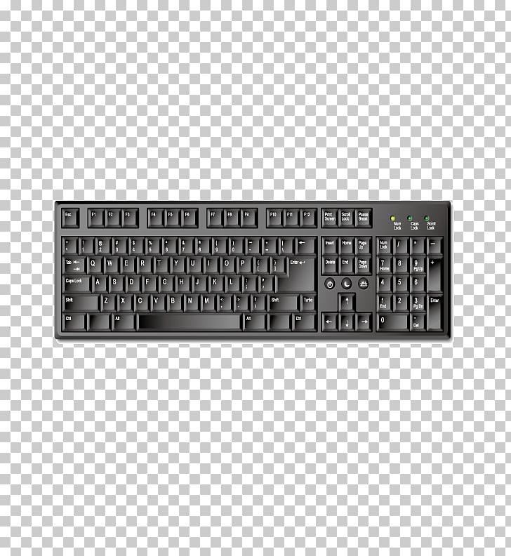 Computer keyboard , Exquisite black mechanical keyboard PNG.