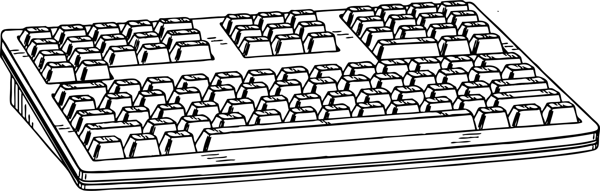 Computer Keyboard Clipart Black And White.
