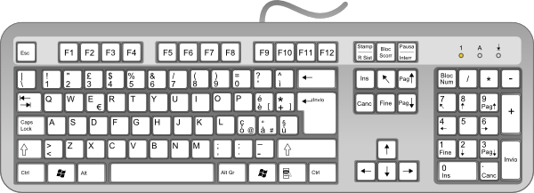Free computer keyboard clipart 2 » Clipart Portal.