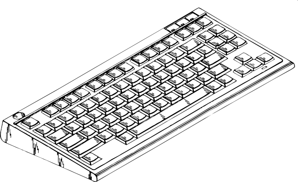 Computer Keyboard clip art (116576) Free SVG Download / 4 Vector.