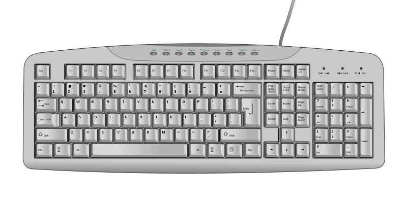Keyboard PNG Transparent Images.