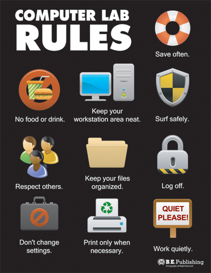 Top Ten Computer Lab Rules.