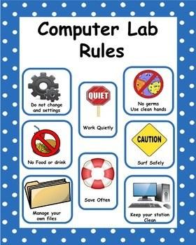 Computer lab rules clipart 1 » Clipart Portal.