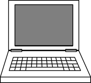 Computer vs laptop clipart.
