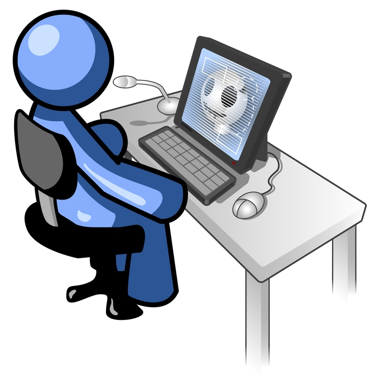 Computer Learning Clipart.