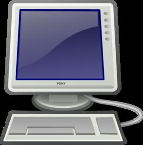 Computer Screen And Keyboard Clip Art at Clker.com.