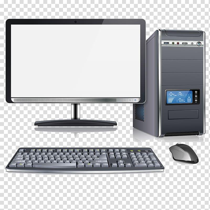 Desktop set art, Computer keyboard Computer mouse Computer.