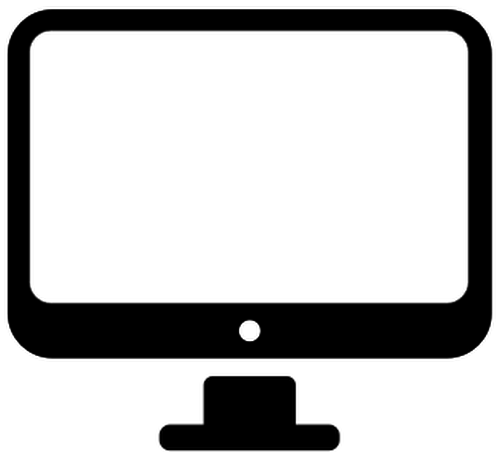 Computer monitor clipart transparent.