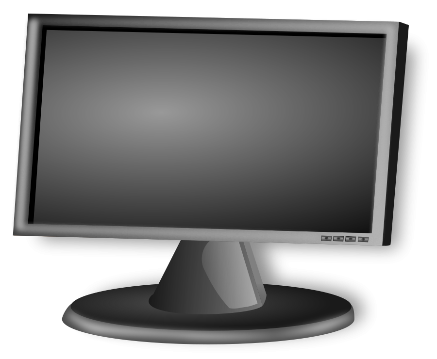 Touch screen computer monitor clipart.