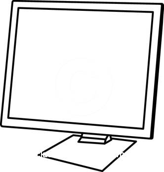 Computer black and white black and white monitor clip art.