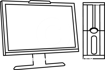 Computer Monitor Clip Art Black And White.