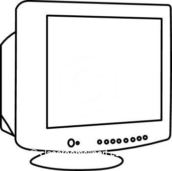 Computer Monitor Clipart Black And White.