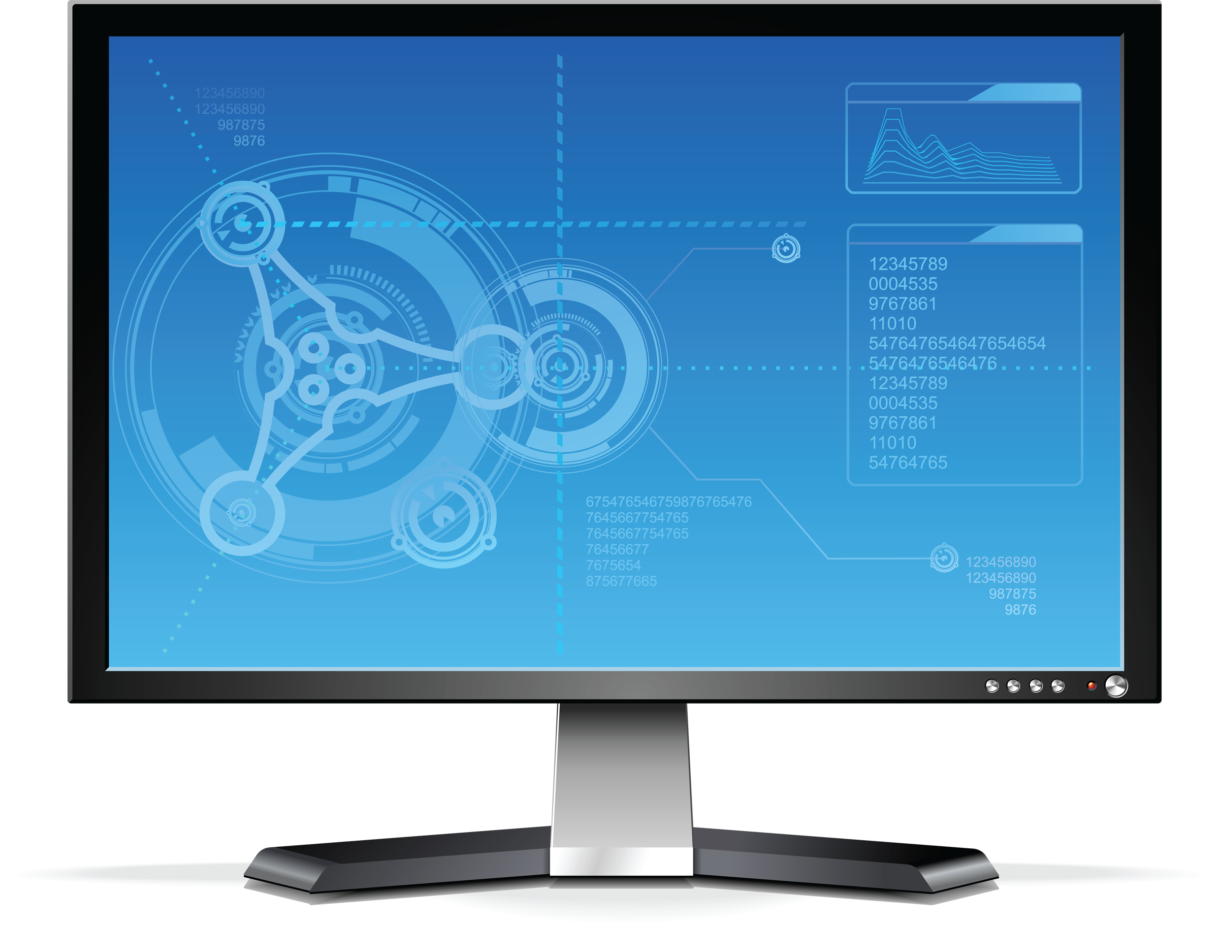 Monitors PNG images, monitor PNG image, LCD display PNG.