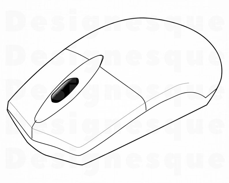 Computer Mouse SVG, Computer Mouse Clipart, Computer Mouse Files for  Cricut, Computer Mouse Cut Files For Silhouette, Dxf, Png, Eps, Vector.