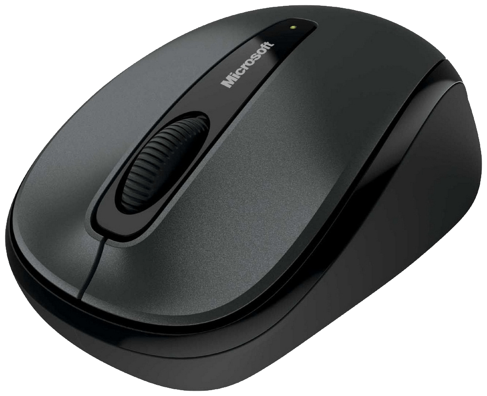 Wireless Microsoft Computer Mouse transparent PNG.