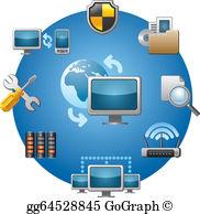 Computer Network Clip Art.