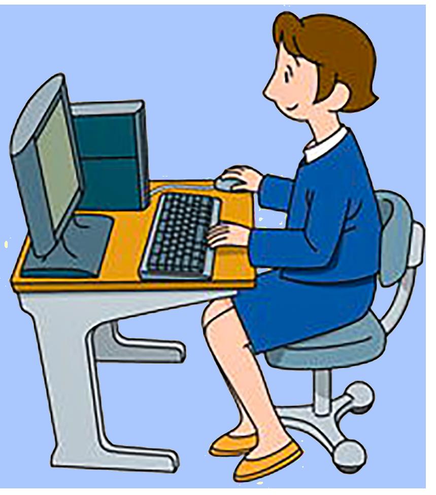 Professional clipart computer operator, Professional computer.