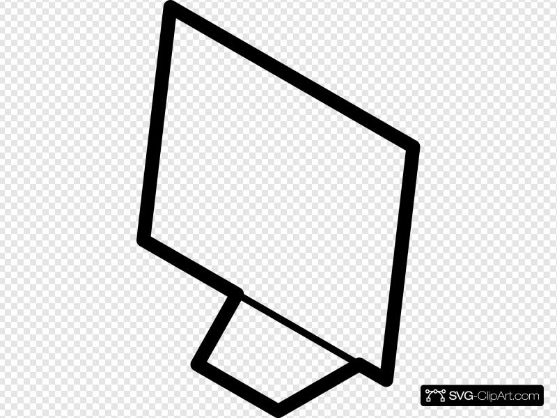 Computer Screen Outline Clip art, Icon and SVG.