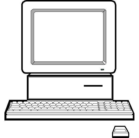 Computer outline clipart » Clipart Portal.