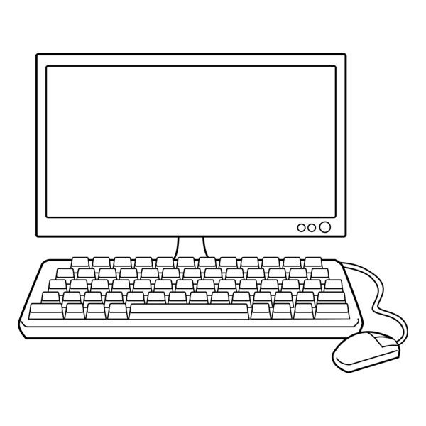 Computer Clip Art Black And White ❤ liked on Polyvore featuring.