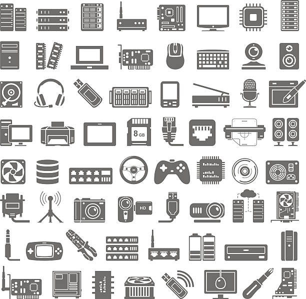 Best Computer Parts Illustrations, Royalty.