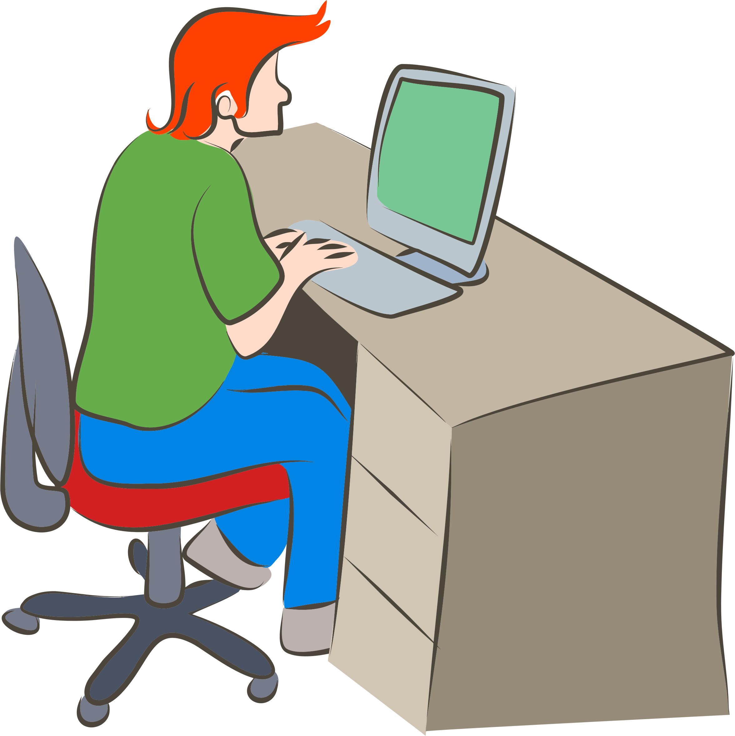 Person clipart computer, Person computer Transparent FREE.